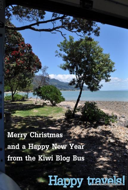 Christmas greetings from the Kiwi Blog Bus